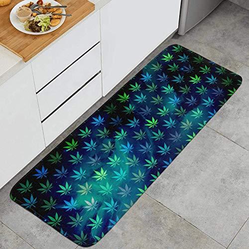 kThrones Cannabis Samen Autoflower Anti Fatigue Küchenmatte Komfort Fußmatte Rutschfester Küchenteppich(80x60cm)