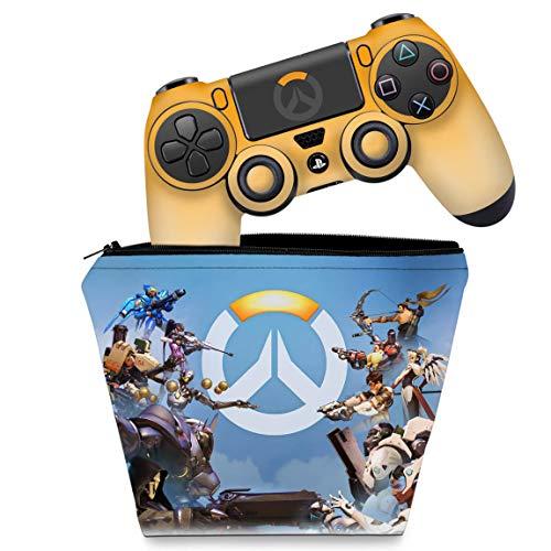 Capa Case e Skin Adesivo PS4 Controle - Overwatch