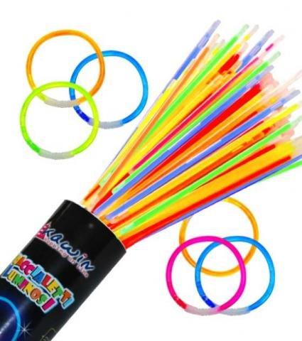 Kawin srl 200 Pulseras Luminosas Colores Mixtos