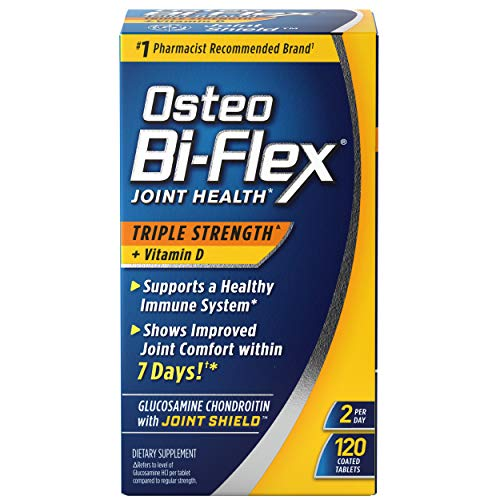 Osteo Bi-Flex Triple Strength(5) with Vitamin D Glucosamine Chondroitin Joint Health Supplement, Coated Tablets, 120 Count