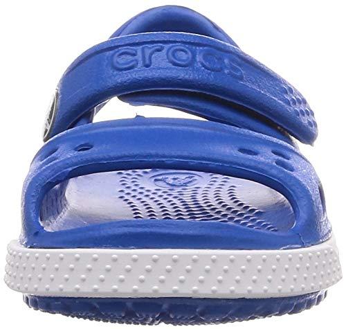 Crocs Kids' Crocband II Sandals, Bright Cobalt/Charcoal, 7 Toddler