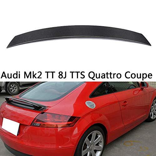 QCWY Auto Kofferraum Spoiler Geeignet für Audi Mk2 TT 8J TTS Quattro Coupé Heckspoiler Heckflügel 2008-2014 Style Kohlefaser CF Heck lippe Flügel