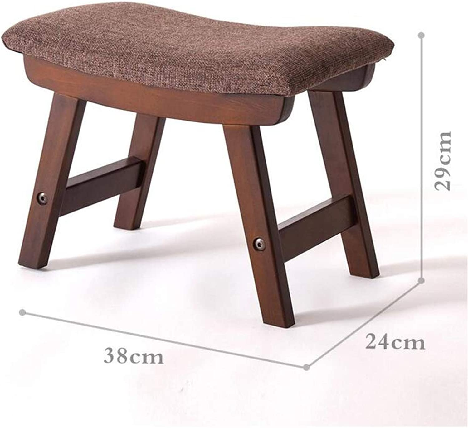 A-Fort DLDL Creative Bench Simple Solid Wood shoes Bench Home Fabric Stool (color   3 )