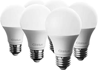 Glolux 75 Watt Equivalent LED Light Bulb, 1100 Lumen, Soft White 3000K 11 Watt, A21 E26 Base Pack of 6