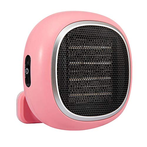 LZC Electric Heater Wall-mounted Home Office Bathroom Ceramic Heating Portable Mini Quick Heating (Color : Pink)