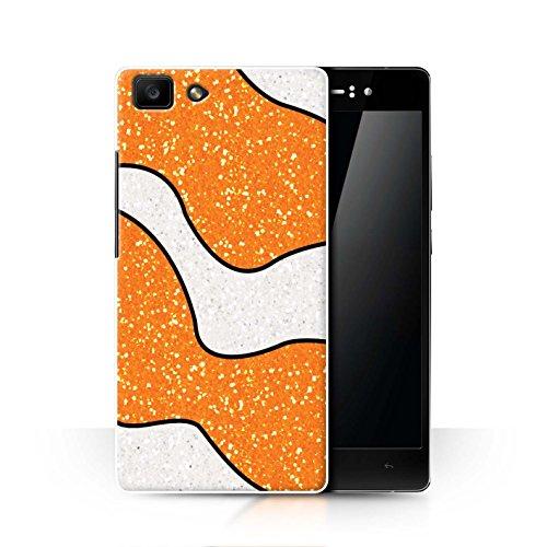 Hülle Für Oppo R5 Glitter Muster Effekt Orange Clownfisch Design Transparent Ultra Dünn Klar Hart Schutz Handyhülle Case