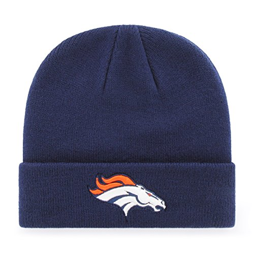 OTS NFL Denver Broncos Youth Raised Cuff Knit Cap, Team Color, Youth