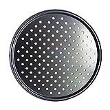 ROOYA BABY Direct-JP ピザパン 穴付き ピザ焼網 焼肉プレート ベーキングトレイ ピザトレイ BBQ用 焦げ付き防止 ノンスティック パンチピザパン ラウンドピザパン オーブンベーキング(32cm)