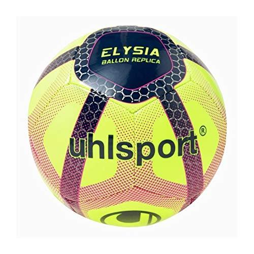 uhlsport Elysia Beach Soccer Balones de fútbol de Ocio, Juventud Unisex, Fluo Yellow/Navy/Fucsia, 5