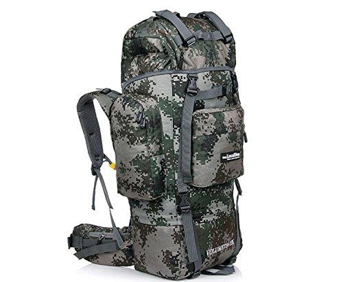 Support de sac d'alpinisme camping Outdoor randonnée 85L sac à dos de randonnée voyage bagages , army green