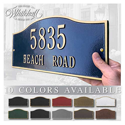 Personalized Cast Metal Address plaque - The Rolling Hills Plaque. Display your address and street name. Custom house number sign.