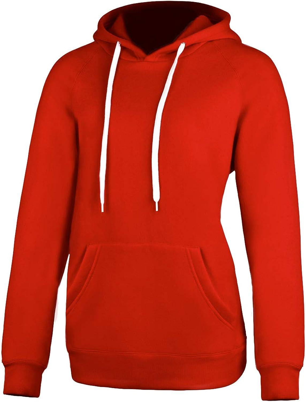 Chenghe Women's Blend Fleece Jersey Hoodie Sweatshirt Pocket Prime WJN066
