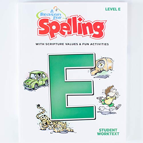 A Reason For Spelling Student Workbook Level E, 5th Grade - Fifth Graders Practice Workbooks for Words, Vocabulary & Comprehension Skills - Kids Help Books for Homeschool, Classroom, Home