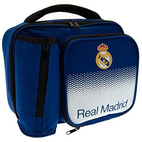 Real Madrid FC - Fiambrera oficial con diseño degradado (Talla Única) (Azul/Blanco)