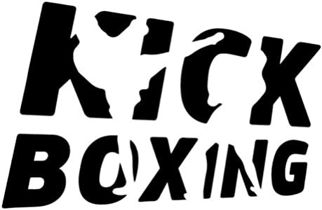 EmptyEmpty 3 Piezas Pegatinas de Coche 18,1 CM * 11,7 CM Kick Boxing Reflectante Impermeable calcomanía para Coches Auto Motos Ventana portátil Bicicleta Equipaje Graffiti Pegatinas de Pared