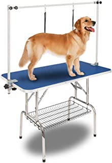 """Bonnlo Upgraded Pet Grooming Table, 45"""" x 24"""" Portable Dog Grooming Table with Arm Noose & Mesh Tray, Adjustable Folable Pet Groom Table Stand for Dog Cat, Maxium Capacity Up to 330 LBS"""