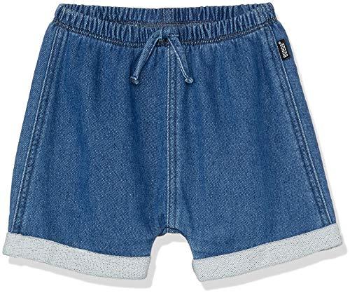 Bonds Baby Girls' Denim Terry Shorts, Mid Blue Chambray, 3 (24-36 Months)