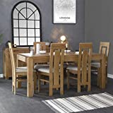 The Furniture Outlet Oslo Rustic Oak 180cm Fixed Top Dining Table