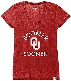 Elite Fan Shop NCAA Womens Vneck Tshirt Burnout Arch