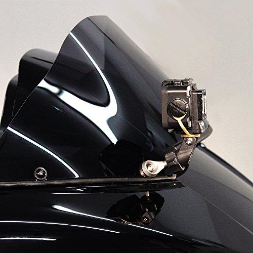 Ciro Action Camera Adapter Compatible for Harley Davidson FLTRU Road Glide Ultra 2016-2019 - Black