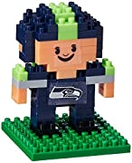"""Build a mini player in your favorite team Approximately 90 Blocks Recommended for ages 6+ Features team colors and logos of your favorite team Finished Product: Approx: 1.5"""" x 1.5""""x 2.25"""""""