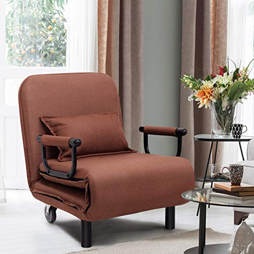 CASART. Folding Sofa Bed, 3-in-1 Convertible Recliner Chair with Pillow and...