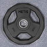 METIS Discos Olímpicos y Pesas para Barras de Musculación| Pesas para Barras Olímpicas Desde 5 kg hasta 25 kg |Fitness en Casa o en el Gimnasio (20 kg)