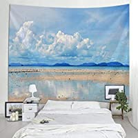 Tapestry Wall Hanging Bed Beach Towel Table Cloth Yoga Mat Home Dec Beach Design Rectangle 150x200cm