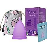Copa Sensible Super Suave Copa Menstrual - Copas de Silicona de Grado Médico - Productos de Higiene Femenina Reutilizables Copas Sanitarias para Mujeres (S, Púrpura)