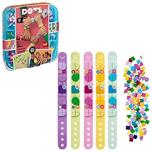 LEGO Dots 41913 LaMéga-BoîtedeBracelets, Activité Manuelle et Loisirs Créatifs, Kit Bricolage Enfant et Breloque Surprise