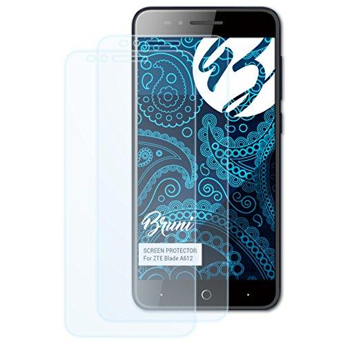 Bruni Schutzfolie kompatibel mit ZTE Blade A612 Folie, glasklare Bildschirmschutzfolie (2X)