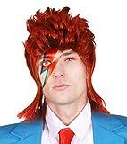 AÑOS 70 Glamrock Peluca Accesorio de Disfraz ideal para 1970s Estrella Del Pop ROCKER ICONO Legend ilovefancydress Disponible en múltiplos - Pack 1 - 6 - Paquete 12 - of 24 - Rojo, PACK OF 1