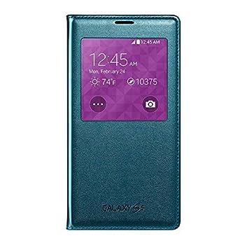 Samsung Galaxy S5 Case S View Flip Cover Folio Green