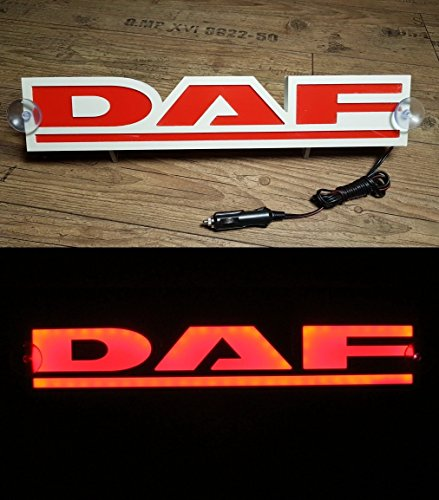 3d 24 V lumière LED Neon plaque pour Daf Trucker Camion Rouge Sign Table illuminant Only Forward ? Ne pas déranger les faire tout en Conduisant
