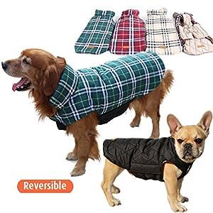 Septven Veste Manteau Réversible d'Automne Hiver pour Chien de Petite Moyen et Grande Taille (XS-XXXL)