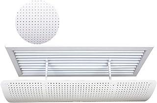 Aire Acondicionado Central Deflector De Viento para Oficina, ABS Blanco Plástico Anti Directo Que Sopla Protección Universal contra El Viento Cubierta Protectora (Size : 90x23cm)