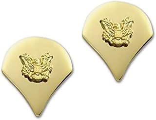 US Army Brite Shiny Metal Pin-On Rank
