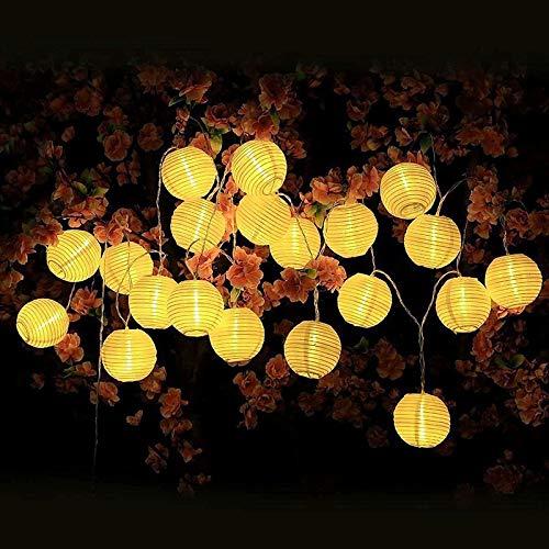 Guirlande Lumineuse Chambre 20LEDs 3,2M Guirlande Guinguette LED Chambre Lanterne Alimentation par Pile Intérieur Extérieur pour Décoraion Jardin Mariage Anniversaire