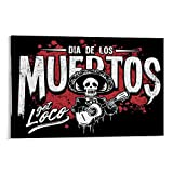 ASDKL Holiday Decoration Wall Day of The Dead Poster Decorative Painting Canvas Wall Art Living Room Posters Bedroom Painting 12x18inch(30x45cm)