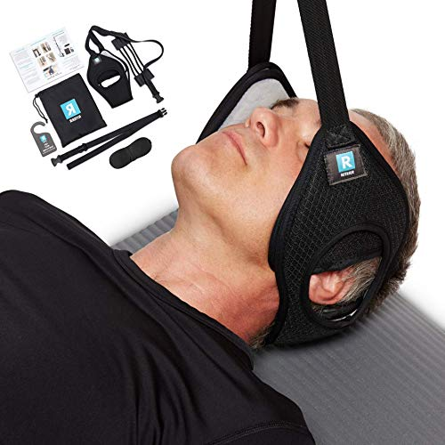 Riterr Neck Hammock - Portable Cervical Traction Device for Pain Relief - Adjustable Neck Sling w/Reinforced Elastic Cords - Neck Stretcher & Decompression - Easy to Use for Physical Therapy at Home