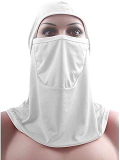 xluckx Niqab Musulmana Nikab Mujeres Burka Overhead Jilbab, Pañuelo musulmán Tapa del Cilindro Bufanda Turbante Turbante musulmán Hijab Largo para Mujeres Celebración en el Interior del Adorable