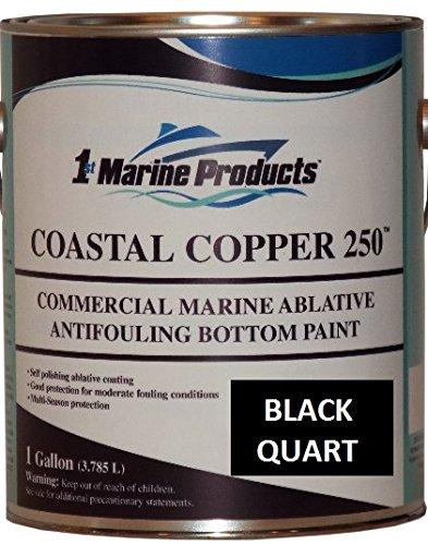 US Marine Products Coastal Copper 250 Ablative Antifouling Bottom Paint Black Quart