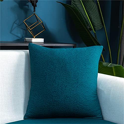 Fundas de cojín elásticas para sofá, fundas de cojín impermeables, fundas de cojín de repuesto para cojines individuales (verde azulado, con cremallera)