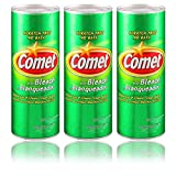Comet Cleaner with Bleach Powder 21-Ounces | Scratch-Free | (3-Pack)