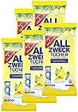 Toallitas húmedas en envase dispensador, 400 unidades, 5 unidades (5 x 80 unidades), con aroma fresco de limón.
