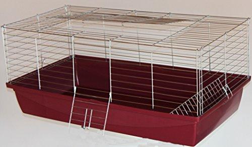 Hasenkäfig Meerschweinkäfig Käfig 1m rot /chrom