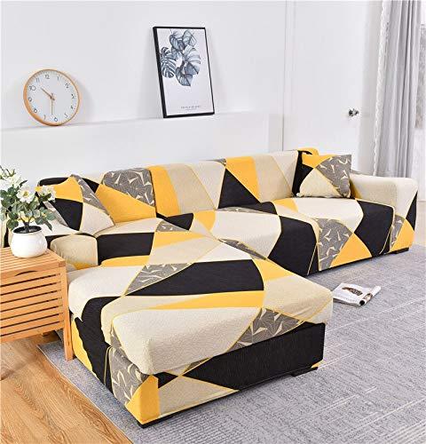 Fundas de sofá elásticas para Sala de Estar Funda de sofá elástica para sillón Funda para sofá Chaise Lounge A12 4 plazas