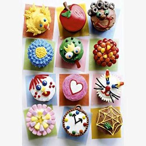 Puzzlekarte 1 Glückwunschkarte aus Puzzleteilen Cupcakes mit bunten Toppings