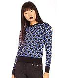 Minueto Black Heart - Jersey de punto para mujer azul XL