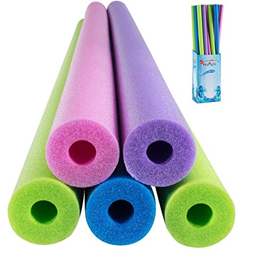 Costzon 24 Pack Foam Pool Swim Noodles, 55 Inch Multipurpose Swimming Pool Noodle Water Float Aid Woggle with Super Buoyancy for Kid & Adult to Increase Balance & Responsiveness (Multicolor)
